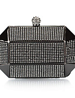 cheap -Women's Crystals Polyester / Alloy Evening Bag Solid Color Black / Gold / Silver