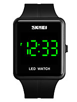cheap -SKMEI Unisex Digital Watch Quartz Modern Style Roman Numeral Silicone Black / Blue / Red 30 m Water Resistant / Waterproof Calendar / date / day New Design Digital Outdoor Fashion - Red Green Blue