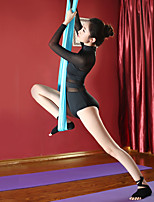 cheap -Women's Aerial Yoga Jumpsuit Winter Black White Red Blue Elastane Ballet Dance Gymnastics Bottoms Sport Activewear Breathable Soft Stretchy