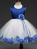 cheap -Princess Dress Flower Girl Dress Girls' Movie Cosplay A-Line Slip Cosplay Purple / Red / Blue Dress Halloween Carnival Masquerade Tulle Polyester