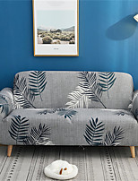 cheap -Grey Leaves Print Dustproof All-powerful Slipcovers Stretch Sofa Cover Super Soft Fabric Couch Cover with One Free Pillow Case