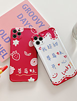 cheap -Case For Apple iPhone 11 / iPhone 11 Pro / iPhone 11 Pro Max Shockproof / Ultra-thin / Pattern Back Cover Food / Cartoon PC