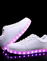 cheap -Unisex PU Spring & Summer / Fall & Winter Casual / Preppy Sneakers Walking Shoes Breathable Black / White