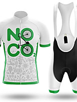 cheap -21Grams Men's Short Sleeve Cycling Jersey with Bib Shorts White Bike Clothing Suit UV Resistant Breathable 3D Pad Quick Dry Sweat-wicking Sports Solid Color Mountain Bike MTB Road Bike Cycling