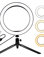 cheap -16cm photography lighting 3200K-5500K dimmable led ring light photo studio phone video beauty makeup camera  tripod