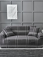 cheap -Grey Check Pattern Print Dustproof All-powerful Slipcovers Stretch Sofa Cover Super Soft Fabric Couch Cover with One Free Pillow Case