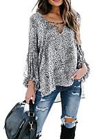cheap -Women's Daily T-shirt - Leopard Black