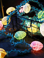 cheap -Easter Egg-Shaped Light String and Rattan Colorful Party Decoration Lighting 1.5M 10 Lights-Without Battery