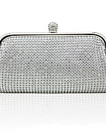 cheap -Women's Crystals / Glitter Alloy Evening Bag Solid Color Gold / Silver