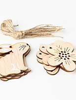 cheap -Ornaments Wood 8pcs Easter