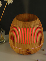 cheap -400ml Humidifier Hollow Night Light Humidifier Wood Grain Mini Humidifier Air Purifier Aromatherapy Machine
