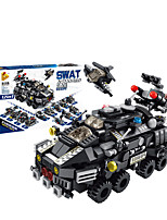 cheap -Building Blocks 572 pcs Vehicles compatible Legoing Simulation Police car All Toy Gift / Kid's