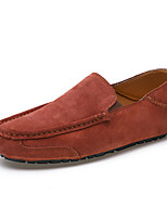 cheap -Men's Suede Fall / Spring & Summer Casual / British Loafers & Slip-Ons Walking Shoes Breathable Light Brown / Orange / Coffee