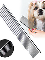 cheap -Pet Comb Stainless Steel Pets Dog Cat Grooming Double Row Teeth Combs Hair Fur Removal Brush Comb Fur Rake