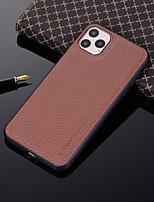 Недорогие -Кейс для Назначение Apple iPhone 11 / iPhone 11 Pro / iPhone 11 Pro Max Защита от удара Кейс на заднюю панель Однотонный Кожа PU