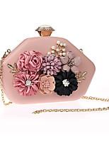 cheap -Women's Flower Polyester Evening Bag Floral Print Black / White / Blushing Pink