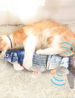cheap -Chew Toy Catnip Plush Toy Squeaking Toy Cat Pet Toy 1pc Pet Friendly Fish Electric Plush Cotton Gift