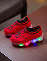 cheap -Boys' / Girls' LED Shoes Flyknit Athletic Shoes Toddler(9m-4ys) / Little Kids(4-7ys) Red / Pink / Black Spring / Summer / Color Block
