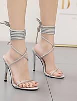 cheap -Women's Heels Stiletto Heel Pointed Toe PU Spring & Summer Silver