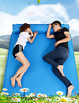 cheap -Inflatable Sleeping Pad Outdoor Camping Linen / Polyester Blend Cotton 185*158*3 cm for 3 person Climbing Camping / Hiking / Caving Traveling Spring Summer Green Blue