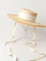 Недорогие -Солома Соломенные шляпы с Ротанг 1 шт. Повседневные / на открытом воздухе Заставка