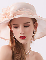 cheap -Vintage Style Fashion Tulle Hats / Headwear with Flower / Trim / Ruffle 1 Piece Wedding / Outdoor Headpiece