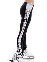 cheap -Over The Boot Figure Skating Tights Women's Girls' Ice Skating Pants / Trousers Black Spandex High Elasticity Training Skating Wear Patchwork Ice Skating Figure Skating / Kids