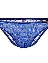 cheap -Men's Lace Briefs Underwear - Normal Low Waist Black Light Blue White M L XL