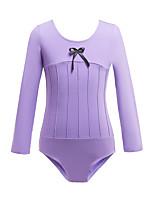 cheap -Gymnastics Leotards Girls' Kids Leotard Cotton Stretchy Breathable Long Sleeve Training Ballet Dance Gymnastics Black