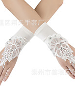 cheap -Gloves Lace Fingerless Satin For Bride Cosplay Halloween Carnival Women's Costume Jewelry Fashion Jewelry