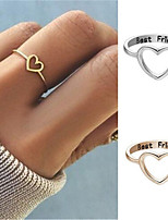 cheap -Women's Ring 1pc Rose Gold Silver Silver-Plated Alloy Daily Jewelry Cat Heart Cute