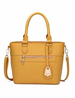 cheap -Women's PU Top Handle Bag Solid Color Yellow / Brown / Black