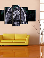 cheap -5 Panels Modern Canvas Prints Painting Home Decor Artwork Pictures DecorPrint Rolled Stretched Modern Art Prints People Celestial