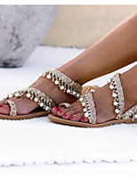 cheap -Women's Sandals Boho Flat Heel Round Toe PU Summer Almond