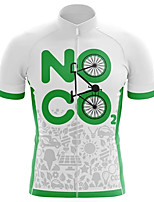 cheap -21Grams Men's Short Sleeve Cycling Jersey 100% Polyester White Bike Jersey Top Mountain Bike MTB Road Bike Cycling UV Resistant Breathable Quick Dry Sports Clothing Apparel / Stretchy / Race Fit