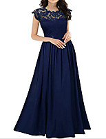 cheap -Women's Maxi Wine Green Dress Swing Solid Color S M