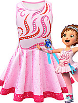 cheap -Fancy Nancy Dress Cosplay Costume Girls' Movie Cosplay Cosplay Costume Party Pink Dress Polyster