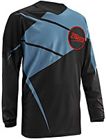 cheap -21Grams Men's Long Sleeve Cycling Jersey Downhill Jersey Dirt Bike Jersey 100% Polyester Black / Red Black / Yellow Black / White Bike Jersey Top Mountain Bike MTB Road Bike Cycling UV Resistant