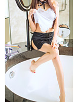 cheap -Women's Lace / Ruffle Uniforms & Cheongsams / Suits Nightwear Solid Colored White One-Size