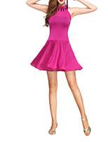 cheap -Latin Dance Dresses Women's Performance Polyester Beading Dress