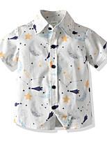 cheap -Toddler Boys' Basic Galaxy Print Short Sleeve Shirt White