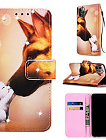 cheap -Case For Apple iPhone 11 / iPhone 11 Pro / iPhone 11 Pro Max Wallet / Card Holder / with Stand Full Body Cases Dog PU Leather for iPhone XS MAX XR XS X 8 PLUS 7 PLUS 6 PLUS 8 7 6S