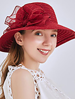 cheap -Vintage Style Fashion Tulle / Straw Hats / Headwear with Bowknot / Pattern / Print / Flower 1 Piece Wedding / Outdoor Headpiece