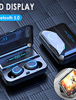 cheap -F9-5 TWS 5.0 Touch Bluetooth Earphones HD Stereo Handsfree Wireless Headphones Business Gaming Headset with Led Display Earphone