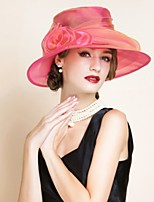 cheap -Poly / Cotton Blend Hats with Flower 1 Piece Casual / Outdoor Headpiece
