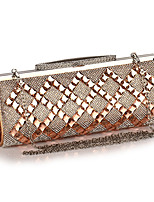 cheap -Women's Crystals / Chain Acrylic / Polyester Evening Bag Geometric Pattern Black / Champagne / Silver