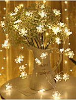 cheap -Snowflake String Lights LED Small Lights Star Lights Battery Box Flashing Lights Christmas Day Ins Decorative Lights