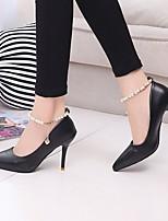 Недорогие -Жен. Обувь на каблуках На шпильке Заостренный носок Полиуретан Весна лето Розовый / Белый / Черный