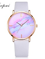 cheap -Women's Quartz Watches Fashion Black White Blue PU Leather Chinese Quartz Blushing Pink Red Blue Adorable 1 pc Analog One Year Battery Life