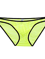 cheap -Men's Mesh Briefs Underwear - Normal Low Waist Black White Yellow S M L